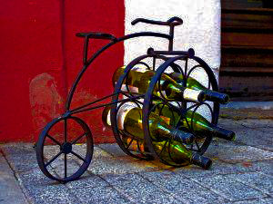 Linton Wines Image Of Bicycle With Wine Bottles